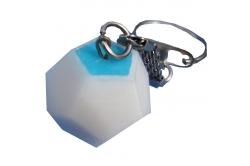 Dodécaèdre porte-clef HOEM blanc