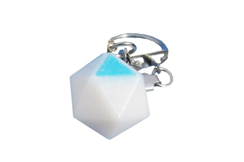 Icosaèdre porte-clef HOEM blanc