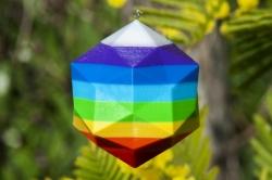 Dodé-Icosaèdre arc en ciel